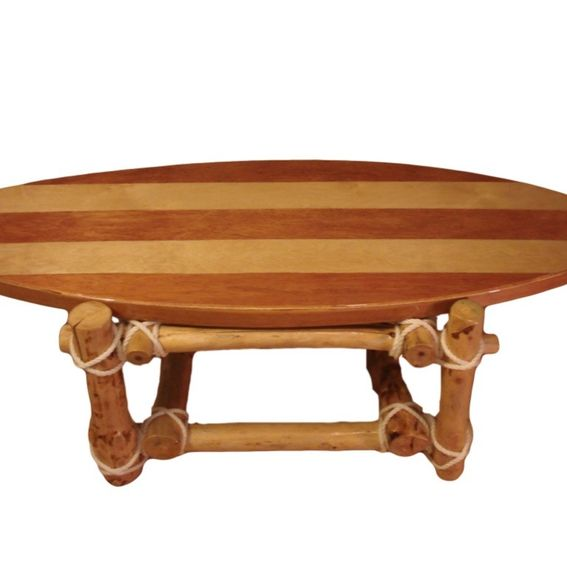 Custom surfboard coffee table by fin decco for Surfboard coffee table