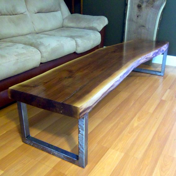 Buy Walnut And Black Metal Square Coffee Table From Fusion: Hand Made Live Edge Black Walnut Coffee Table With Square