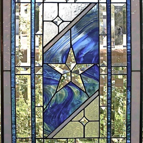 Custom Made Traditional Stained Glass Window Panel By