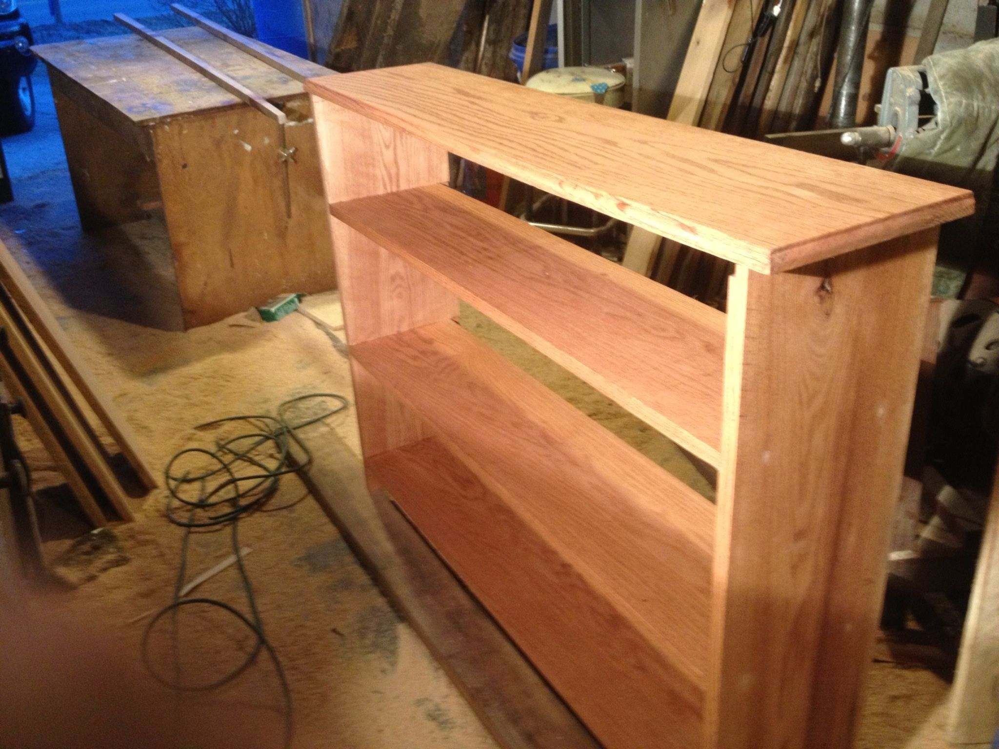 Your bookshelf is nearly complete. I've attached a few pictures from ...