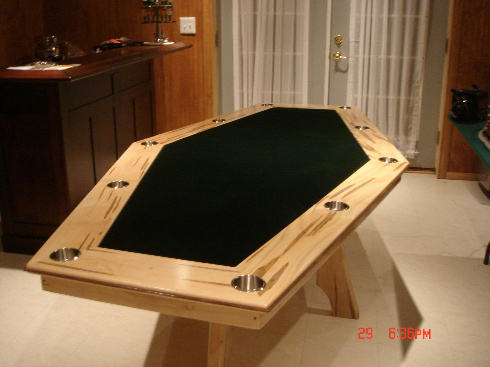 Custom 6 Sided Maple Game Table By Harman Wood Design