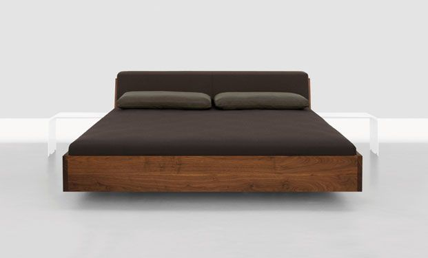 floating Queen platform bed frame with matching nightstands posted on ...