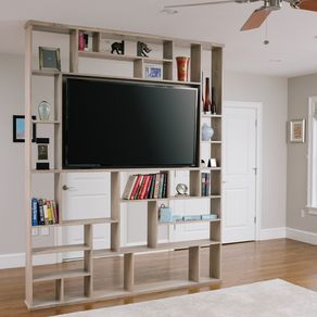 Quot The Lexington Quot Floating Built In Bookshelf And Tv Stand
