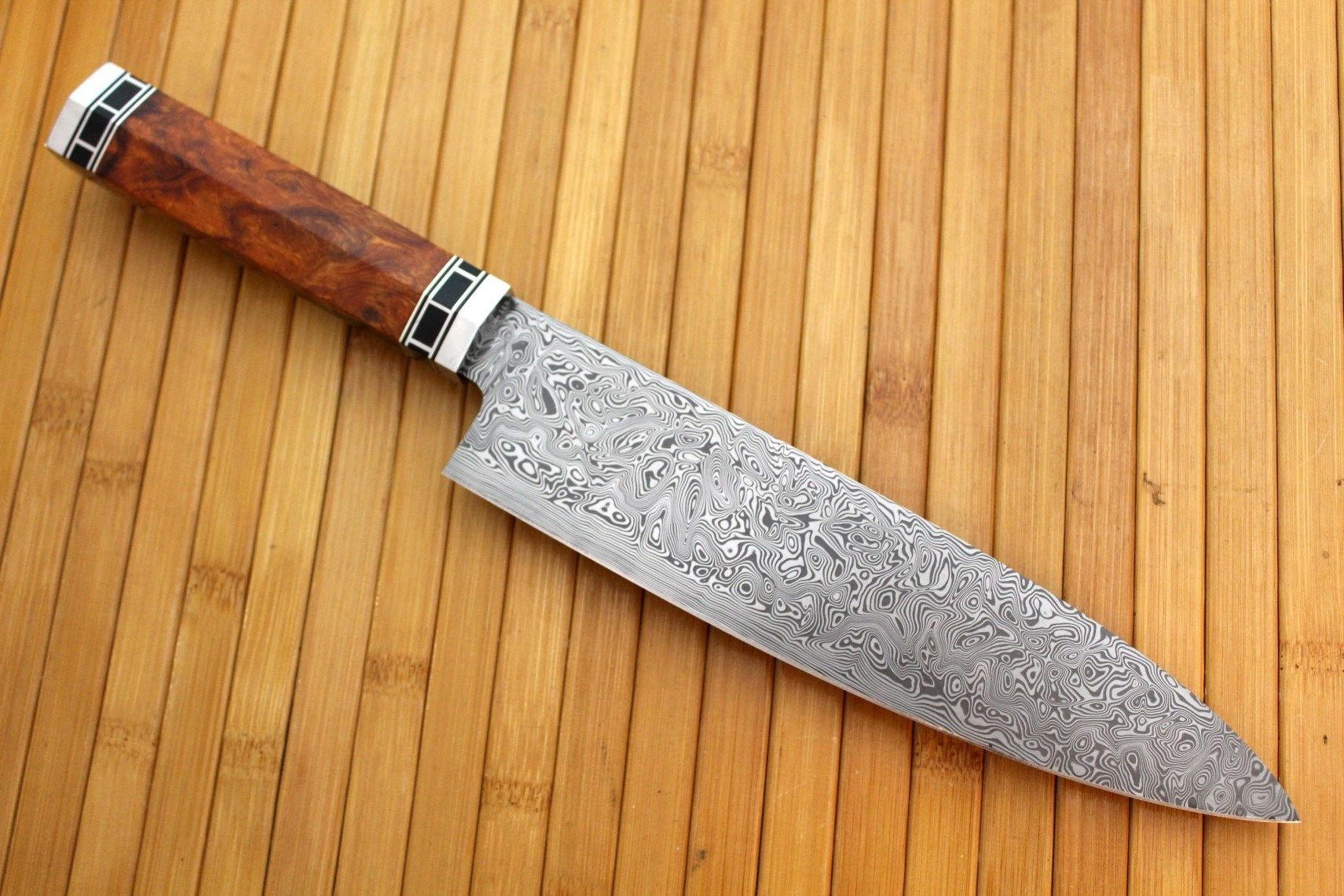 8 damascus chef 39 s knife creation story by cote custom knives. Black Bedroom Furniture Sets. Home Design Ideas