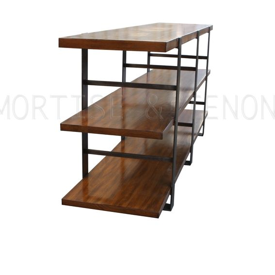 Hand Crafted Reclaimed Wood Amp Metal Bookcase By Mortise