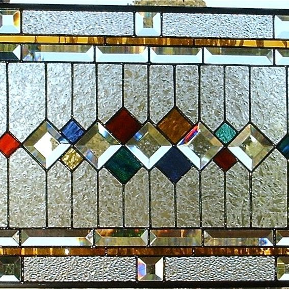 25 Modern Ideas To Use Stained Glass Designs For Home: Custom Made Traditional Stained Glass Window/Panel By